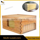 Langstroth Automatic Honey Free Flow Comb Beehive With 7 pieces Self Flow bee Hive Frames