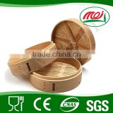 chinese bamboo food serving steamer basket