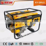 high quality air cooled electric 1-10kw hyundai gasoline generator with wheels and handle