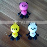 Cut panda shape silicone head for children chopsticks Multi-function and utility