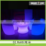LED outdoor furniture nightclub party show LED bar furniture RGB color changed plastic sofa set led sofa