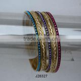 Shrinkle Mosaic Bangles on brass base