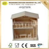 wholesale custom natural unfinished wooden doll house