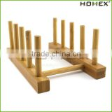 wooden dish rack plate rack stand compact dish drying rack Bamboo dish drainer/Homex_Factory