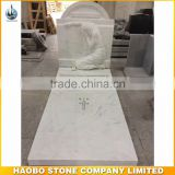 Angel headstone high polished marble carving tombstone