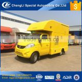 CLW mini mobile kitchen truck Foton chassis 61hp gasoline engine food truck for selling BBQ fried food coffee and other snacks