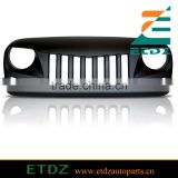 Eagle Eye Matte Front Hood Grill Grille Grid for 07-16 Jeep Wrangler