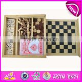 Multifunction wooden board games, hot sale wooden games board, new kids wooden board games WJ277081