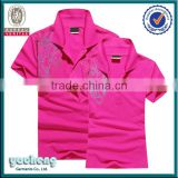 Wholesale custom design couple polo 100 polyester polo shirts