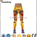 Printed Yellow Leggings Fashion Casual Leggins High Quality Elastics Wasit Sexy Skinny Sporting Pants