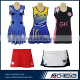 Custom One-piece tennis wear /netball dress short /netball bibs /netball uniform /netball skirts