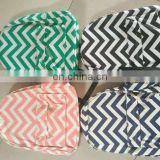 Wholesale High quality canvas monogrammed Chevron Backpacks