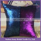 SQP022S Navy purple reversible sequin fabric christmas pillow case decorative