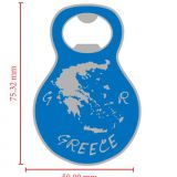Athens owl openerSupply Greek tourist souvenirs key to Greek key buckle custom Bottle opener