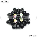 AB+black rhinestone button bridal button luxury button wedding button
