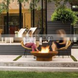 Rusted Red or Powder Coated Black Color and Stocked Feature corten steel fire bowl