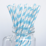 Dot Stripe Beautiful Wave Stripe Straw Decor Straw Paper Straw for Store