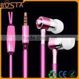 Hifi stereo flashing with the music stylish crystal glowing El earphones with mic
