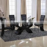 morden folding glass dining table design