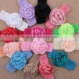 "2.75"" Shabby Chiffon Rose Trim Chiffon Frayed Flowers DIY Baby headband Hair Accessory MY-AF0005"