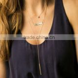 Bohemia style body jewelry multilayer necklace woman simple design factory directly selling cheap price