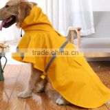 waterproof PU reflective tage large size pet raincoat dog