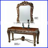 Classic Style MDF Hall Console Table and Wall Mirror S-1801