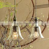 Simple Ceiling Light Pendant Lamp Edison Vintage Glass Bell Restaurant Lamp