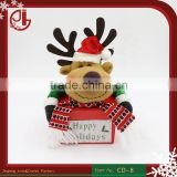 Moose Elk Deer Cute Design Xmas Bags Covers Indoor Christmas Party Decoration Supplies Candy Box