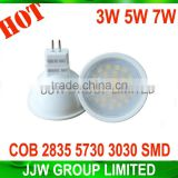 Energy saving led gu10 bulb 5050 smd 2800k 3000k warm white 5W 7w gu5.3 led spotlight for home lighting