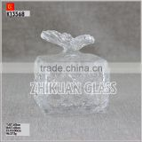 New Products In Market Glass cup/ hot sales design Hand press butterfly shape with diamond pattern glass jar