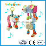 High Quality Baby Toys Stuff Shape Plush Baby Musical hanging Toys infant doll