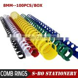 8mm plastic comb rings for binding