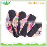 Feminine Hygiene Reusable Sanitary Napkin / OEM cloth Sanitary Pads / healthy cloth menstrual pads for ladies                                                                                         Most Popular