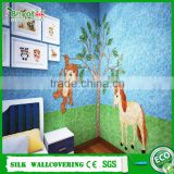 fibre cotton wall coat 3D fibre decor wall covering DIY oriental wall coating