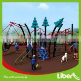New Style Adventure Multifunctional Children Plastic Playground Equipment With Climbing Frames LE.NT.002