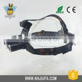 JF High power three light source XPE/Q5/T6 ultra bright led headlamp wholesale,waterproof three mode aluminium hunting headlamp