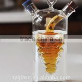 China Factory Cheap Price Reusable Cookingware Clear High Borosilicate Glass Oilve Oil Cruet Bottle For Vinegar Wholesale