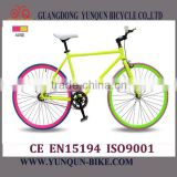 2016 popular desing Wholesale Price Track Bike/ colorful 700C fixie gear bike/ cheap fixed gear bicycle/ flip flop hub