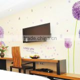 """Purple Dandelion"" PVC Wall Stickers, Removable Flower Wall Stickers 1/3"