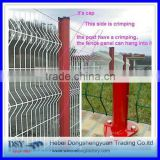 have a stock 3 folds curvy green welded wire mesh fence for sale (direct manufacture)