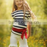 Fashion Organic cotton kids skirt and top cotton tank for girls