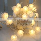 New Christmas Light 2.2M 20 LED Ultra Bright LED String For Holiday Decoration Warm White Pinecone Lamp Fairy String Light