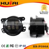 4'' High Quality 30w LED fog lamp for Harley jeep wrangler off road with projector 10-30v led fog light