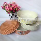 Dia.24*H7cm Carbon Steel Non-stick Round Springform Cake Pan with decals and flowers bakeware set
