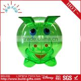 2014 cute transparent piggy bank with coin counter
