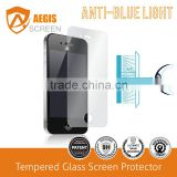 Eyes Care Anti Blue light Tempered glass screen protector for Iphone 5 Blue lingt cut Explosion-proof 9h glass film