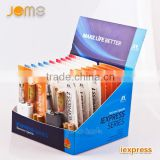 High tech electronic cigarette Jomo unique e cig box mod Express CE4 blister pack display stands