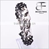Top Quality Punk Style Braided Leather Bracelets with Stainless Steel Clasp