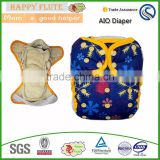 Happy flute aio cloth diaper 4 layers Waterproof Absorbent hemp Cotton diapers private label bamboo free shipping                                                                         Quality Choice